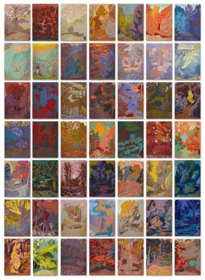 Autumn Colours chalk drawings 30x21 cm