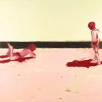 Sand Shadows, 2004, Oil on canvas  153x153 cms
