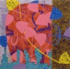 Squaresite no.14 Shalimar Oil and mixed media on canvas 2007  72 x 72 ins 183 x 183 cm