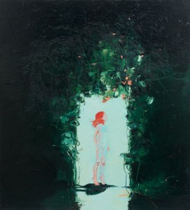 Into the Light 2009 oil on canvas 72x66ins 183x168cms