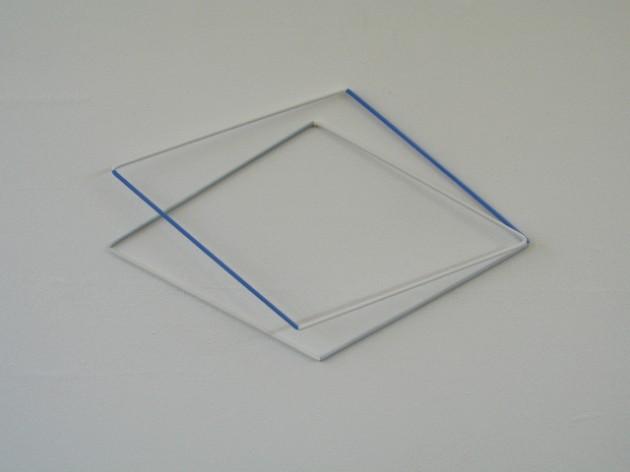 weg! 1999-23 acrylic and varnish on aluminium 41x63x5 cm