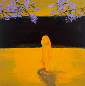 'Sunset Girl' Lisa Wright oil on canvas 2010 99x99 cm