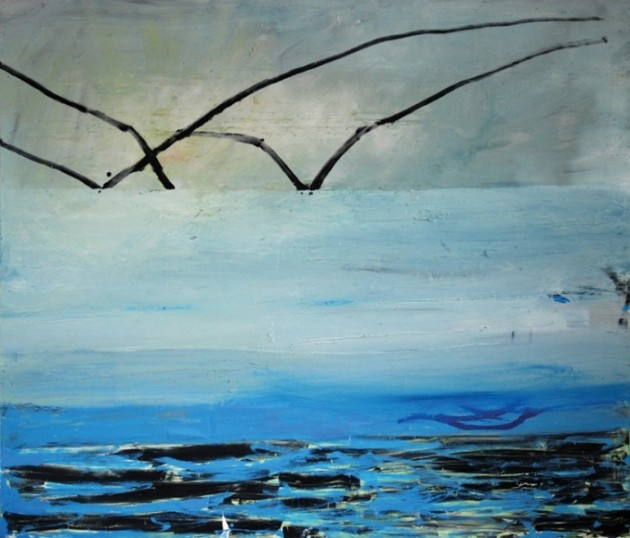Sea Mirror oil & mixed media on canvas 158x184cm