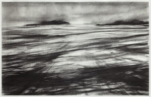 Staffa from Iona 2013 graphite on paper 92x147cm