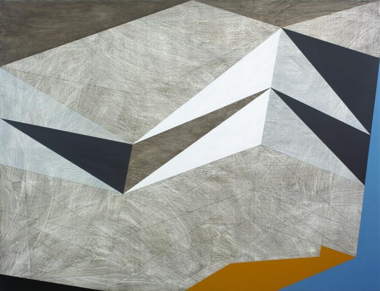 False Construct 1, 2014 acrylic on canvas on wood 110x144cm