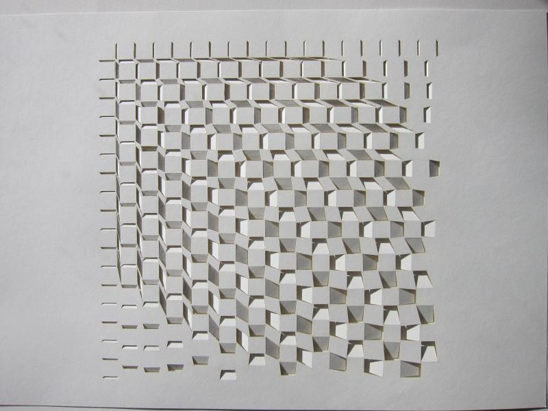 Toni Davey 'Seventy two' 2014 cut paper 1/4 53x51cm