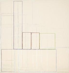 Sheldon Square North acrylic on canvas 175x165cm