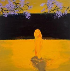 'Sunset Girl' Lisa Wright oil on canvas 2010 99x99 cm